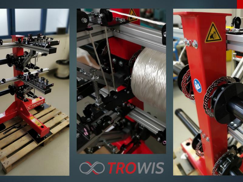 TROWIS entwickelt Spulengatter mit Tangentialabzug